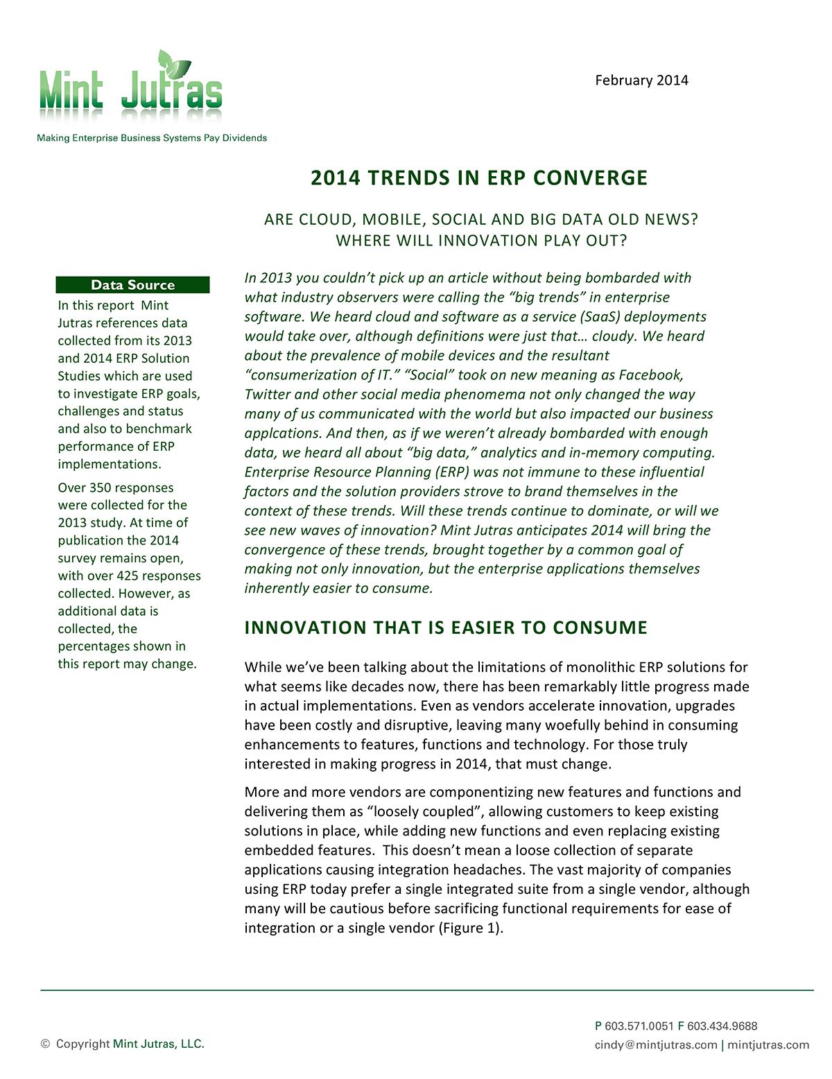 2014 Trends in ERP Converge