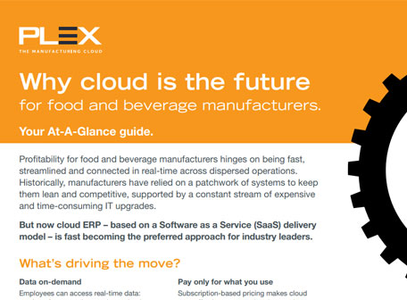 Why cloud is the future for food and beverage manufacturers.